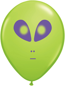 "5"" Round Space Alien Heads - 100 count"
