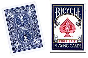 Bicycle Playing Cards - Poker Size - Colour: Blue