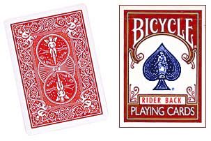 Bicycle Playing Cards - Poker Size - Colour: Red